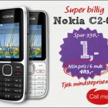 Nokia C2-01 Tjek mindsteprisen!